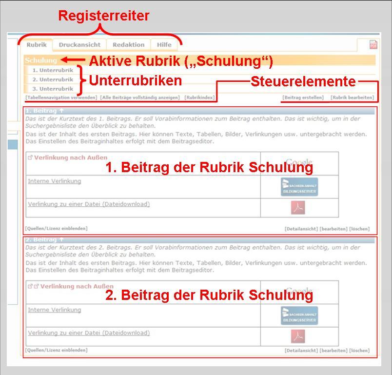 Bildungsserver Sachsen-Anhalt - Onlinehilfe